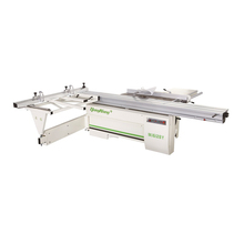 dual circualr saw wood cutting machine, precision sliding table saw MJ6128Y
