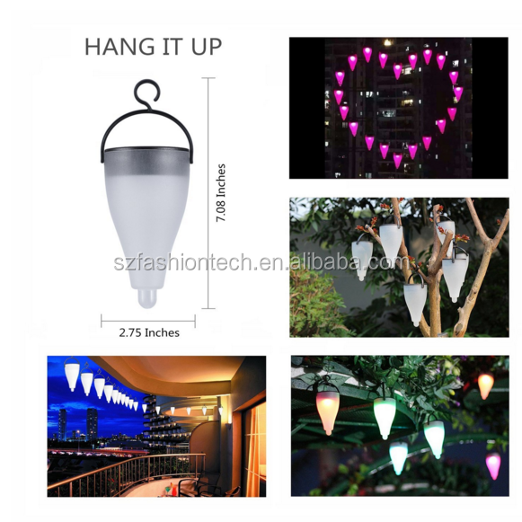 Newest 7-Color changing Solar LED Garden light / waterproof lawn lamp