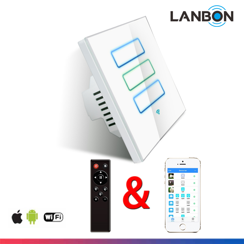 Android and IOS APP remote control Wi-FI electrical light switches for smart home system manufacturered by Lanbon