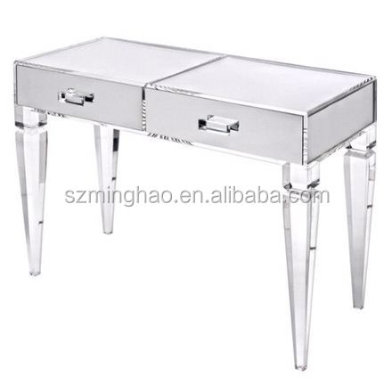 Factory supply elegant lucite dressing table with drawers