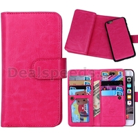 2 in 1 Crazy Horse Multiple Card Slots Removable Detachable Leather Case for iPhone 6