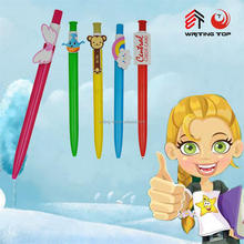 2016 custom clip pen,cute plastic pen with custom clip,cartoon pen clip