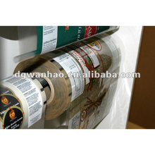 Laminating roll film for automative packaging machine