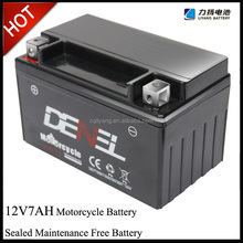 High quality 12v storage motorcycle battery 12 v 7ah smf battery supplier