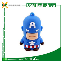 2015 hotsale cartoon character captain America usb flash drive