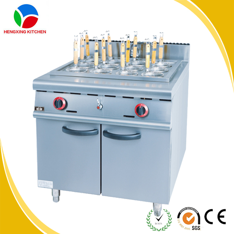 Commercial Gas Pasta Cooker/Noodle Boiler with Cabinet