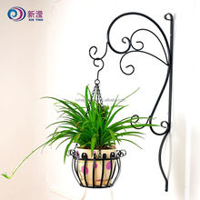 Metal Hanging Planter Basket Round Wire Plant Holder With Chain Porch Decor Flower Pots