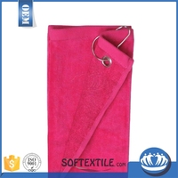 wholesale high quality cotton golf towel club glove with high quality