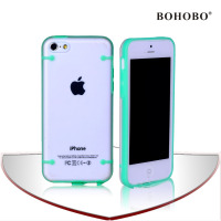 TPU Bumper Glow in the Dark Clear Hard Case for Apple iPhone 5