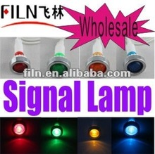 Wholesale 10mm install hole , 220V , green , LED railway signal lamp