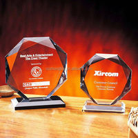 AAA K9 high quality wholesale glass trophy, crystal award