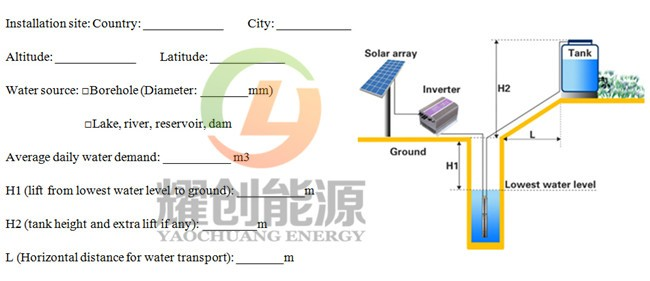Yaochuang Energy DC 310V / 560V to AC 220V / 230V / 380V / 440V 10-50HP solar water pump