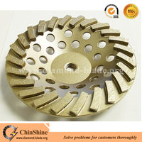 7 inch concrete turbo diamond grinding cup wheel 24 segments
