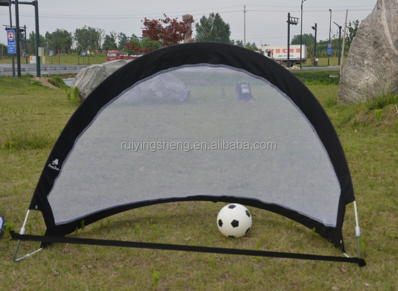 Portable Pop-up Soccer Goal with fiberglass for kids training