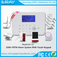 GSM + PSTN temperature control travel smoke alarm smoke detector support Contact ID