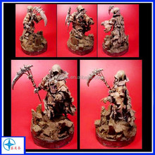 Hotsale High Quality ancient powerful Resin Reaper Figurine, with scything