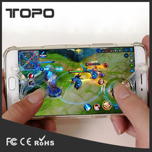 Mobile phone screen fling touch 2 button sucker hand game joystick for Iphone for Android for Ipad