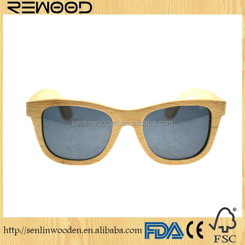 Handcrafted Wood Bamboo gafas Custom brands bamboo sunglasses brands bamboo sun glasses eyewear
