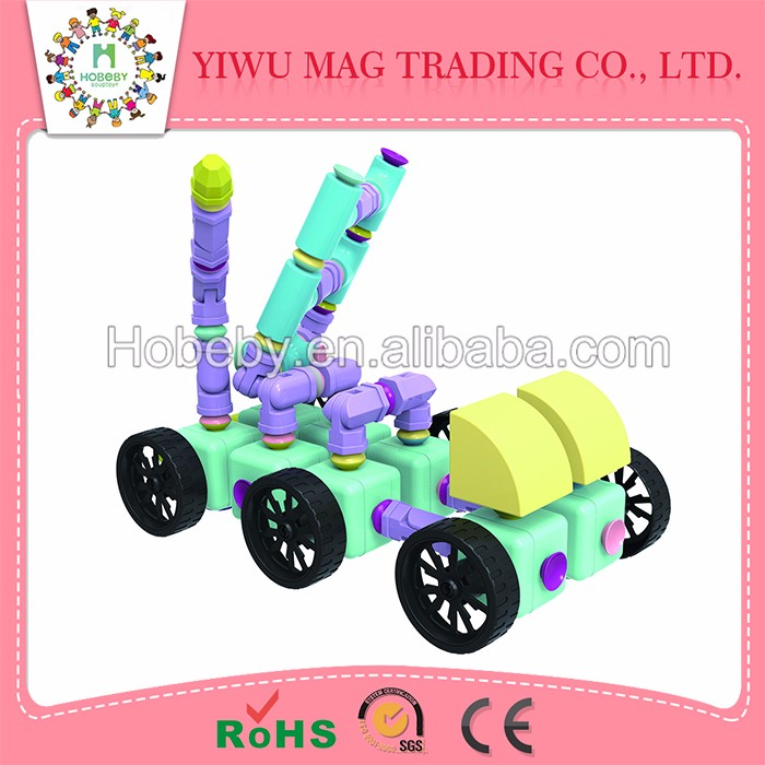 Factory supply high quality with sucker construction toys battery operated toys