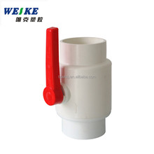 PVC plastic compact ball valve/white red long handle/agriculture/water supply