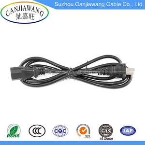 High quality free sample PSE Standard 2 Pin Flat Electric Plug Power Cord to IEC C7 125V 12A