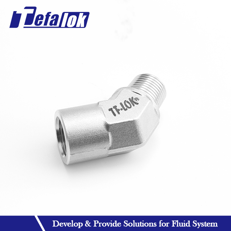 45 degree instrumentation ss elbow pipe fitting