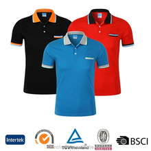 OEM wholesale no label sweat resistant polyester dry fit fabric european size blank polo shirts with pocket