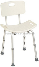 New design aluminum folding shower chair with back