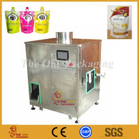 TOSFC-1-1A Semi-auto peanut milk soy bean milk standing up spout satchet/pouch/bag filling capping machine