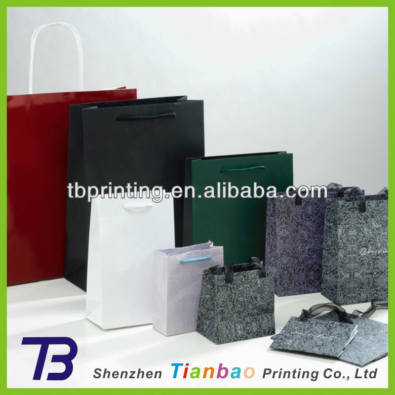 Printed china custom all kins of cheap standard size shopping bags