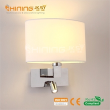 Fabric Shade Hotel Bedside Wall Lamp Reading LED Wall Lamp, Hotel Wall light With USB Charger