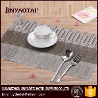 modern fabric polyester woven round placemats disposable table mats