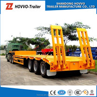 Manufacturer Heavy Duty Equipment Transport 3-axle Lowbed Semi Trailer 100t 200t lowboy trailer