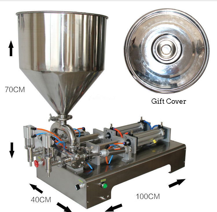 Semi Automatic High Viscosity 1000ml Bottle Oral Viscous Perfume Vial Lab Chemical Sample Liquid Filling Machine Price