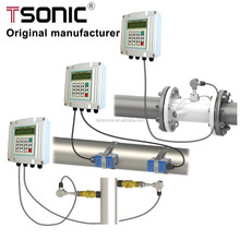 TSONIC TUF-2000S OCT Pulse Output Quantitative Control PLC And DCS Flanged Ultrasonic Water Flow Meter