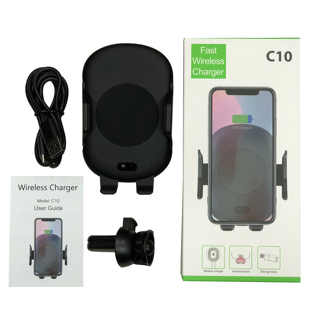 10W <strong>C10</strong> Automatically Air Vent Wireless Charger Car Mount Wireless Phone Charger