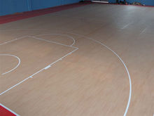 Syenthetic pvc vinyl indoor basketball court flooring