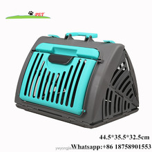 2017 Wholesale Small Animal Cages Cat Dog Foldable Travel Carrier Plastic Portable Cat Outdoor Carrier