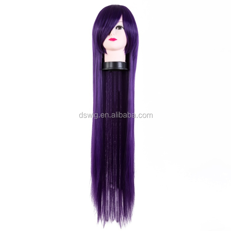 High quality wigs cosplay long straight hair 100cm for halloween wigs