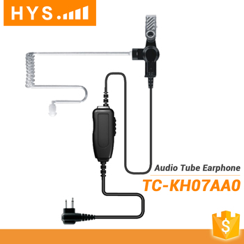 Audio Tube Two Way Security Police Radio Earpiece For Walkie Talkie