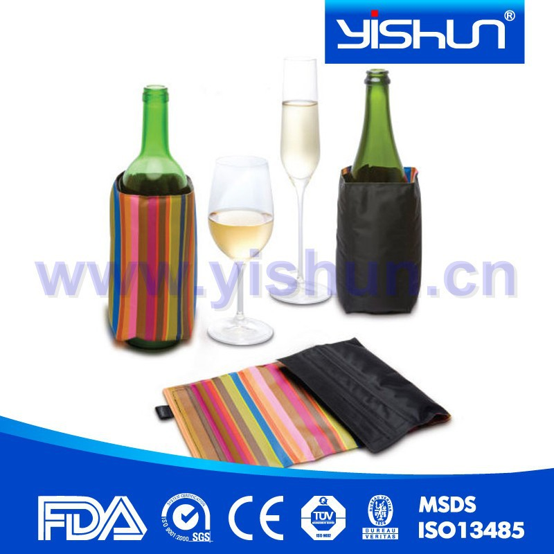 OEM neoprene gel ice pack bottle cooler