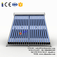 Efficient hot water tube solar pool heater solar collector