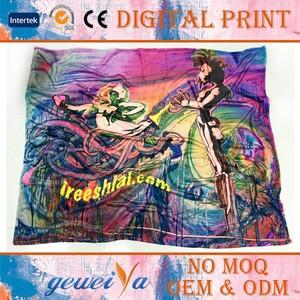Digital Printing Polar Fleece Portable Outdoor Blanket
