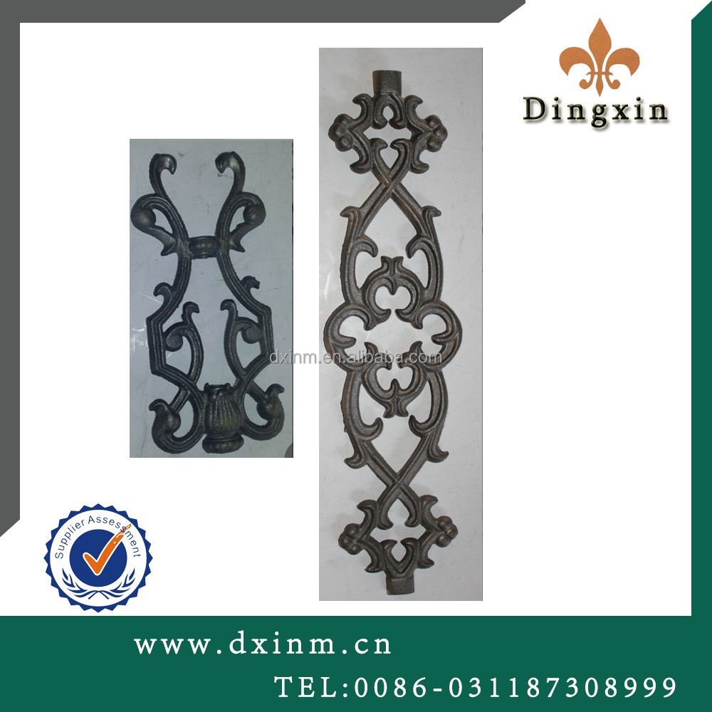 The wrought iorn cast iron used for models of gates and iron fence and garden arch iron gate