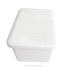 pp wholesale household large capacity rectangular heavy duty dry food storage container plastic rice bin with flip top lid