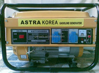 ASTRA Korea 13hp Chinese portable 5kva Single phase gasoline generators sets AST8000EW WITH ELECTRIC START AND BATTERY