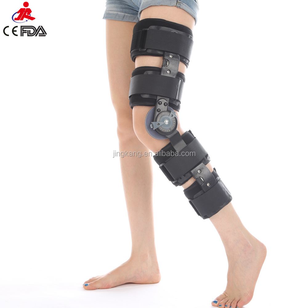 rehab exersises Knee guard orthopedic knee joint orthosis ROM knee support with hinges