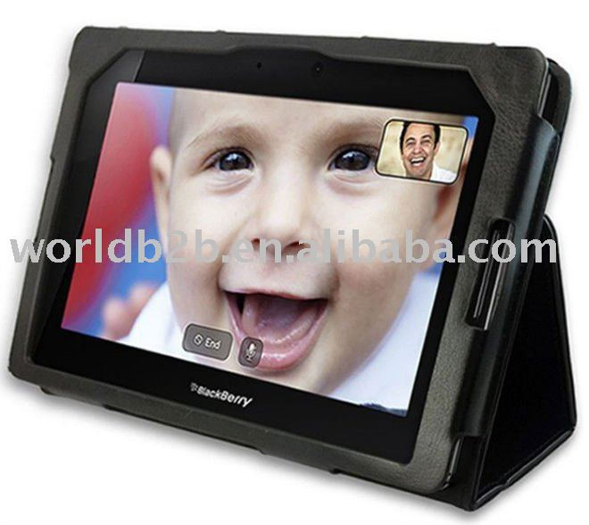 PU leather case for Blackberry playbook, with stand design