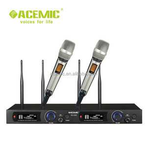 ACEMIC EX520 Professional two channel high quality Stage true diversity fm wireless dynamic microphone