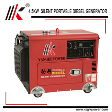 4.5kw single cylinder water cooled diesel genset 6kva generator diesel with power engine dynamo prices